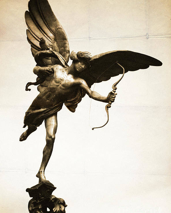 Eros Statue Poster featuring the photograph Eros Statue by Neil Overy
