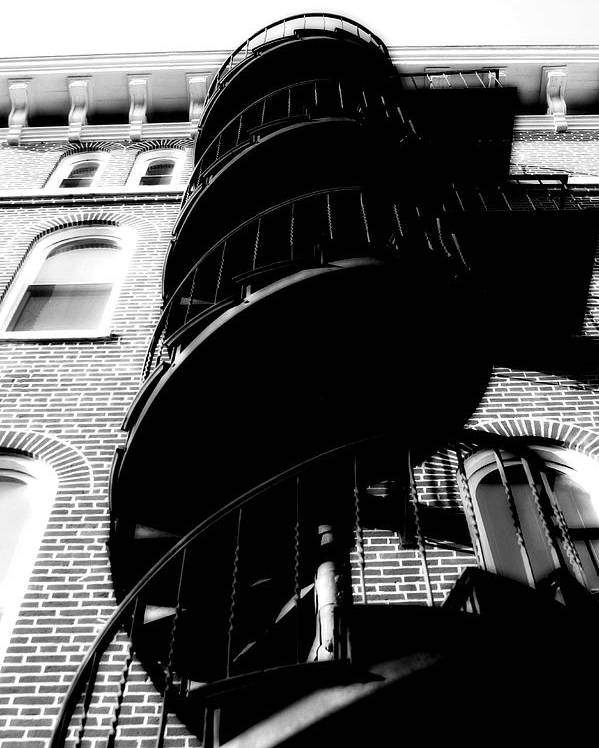 Fire Escape Poster featuring the photograph Escape by Carl Perry