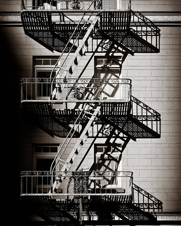 Fire Escape Poster featuring the photograph Escape by Dave Bowman