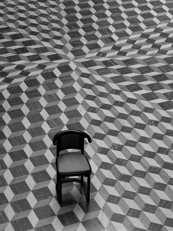 Chair Poster featuring the photograph Escher-like Chair by Jim DeLillo