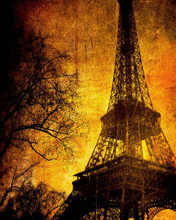 Eiffel Poster featuring the photograph Esthetic Luster by Andrew Paranavitana