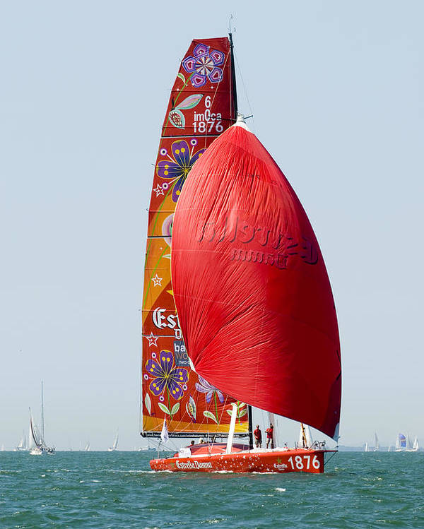 Yacht Poster featuring the photograph Estrella Damm by Gerry Walden