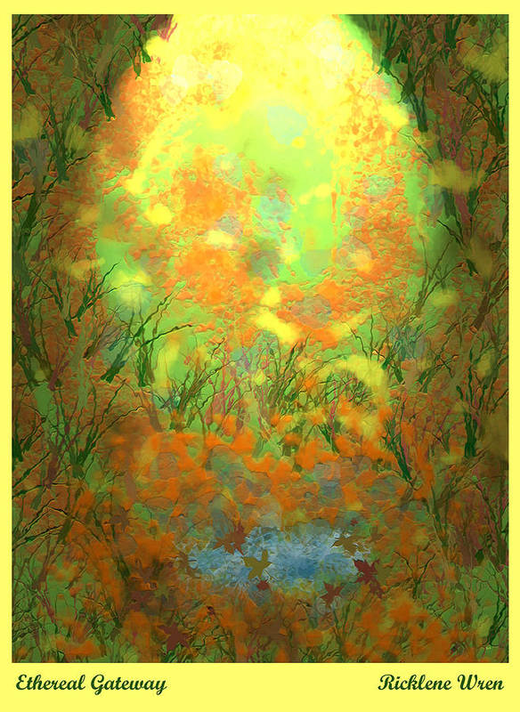 Landscape Poster featuring the digital art Ethereal Gateway by Ricklene Wren