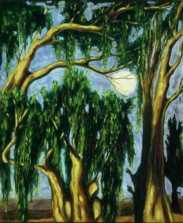 Moon Poster featuring the painting Eucalyptus Moon by Helen O Hara
