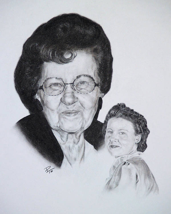 Portrait Poster featuring the drawing Eva by Patrick Entenmann