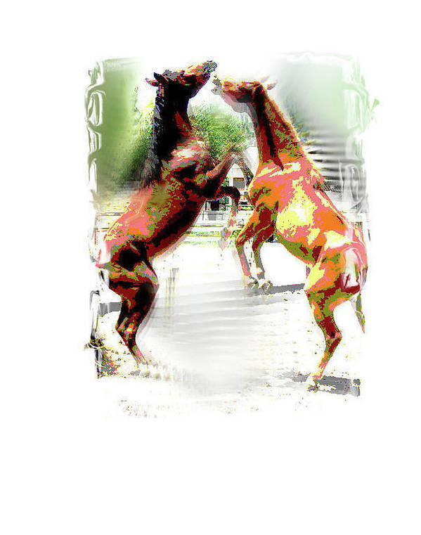 Horses Poster featuring the painting Everglades Ponies by Donna Aloia