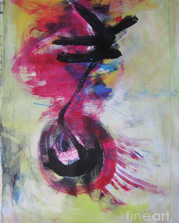 Abstract Paintings Red Paintings Poster featuring the painting Everything A Mistake-abstract Red Painting by Seon-Jeong Kim