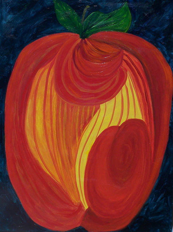 Abstract Poster featuring the painting Eve's Apple by Marcia Paige