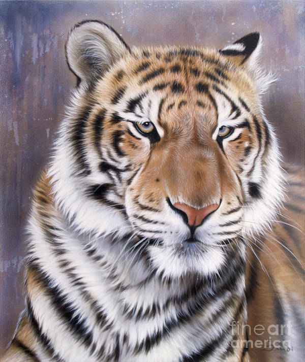 Wildlife Poster featuring the painting Evo by Sandi Baker