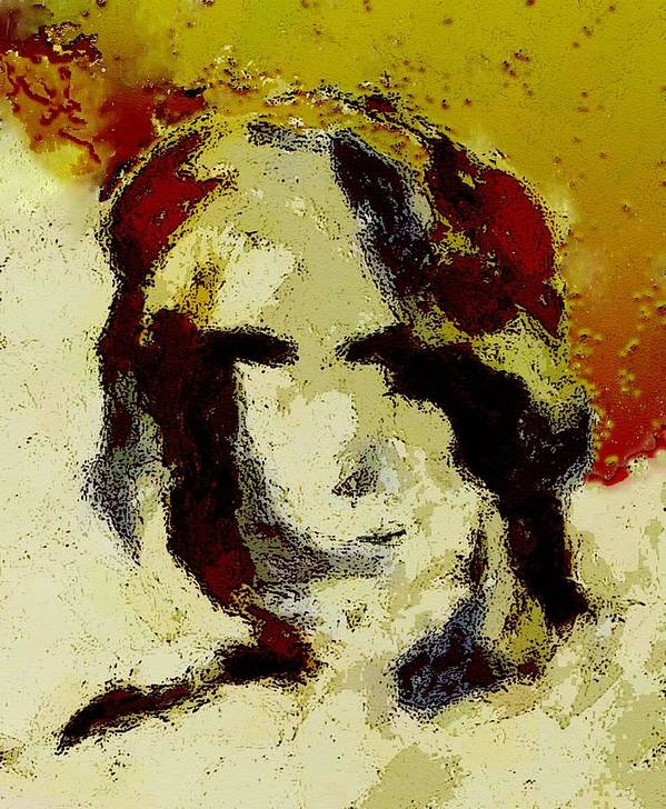 Abstract Poster featuring the mixed media Expression by LeeAnn Alexander