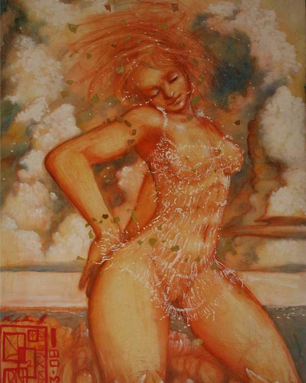 Ecstacy Ralph Nixon Jr Poster featuring the painting Exstacy by Ralph Nixon Jr