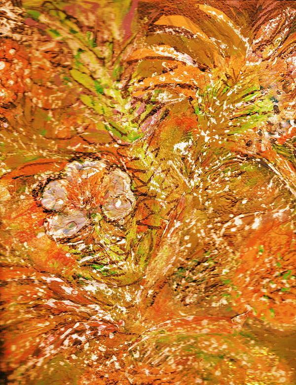 Orange Poster featuring the painting Extravaganza Orange by Anne-Elizabeth Whiteway