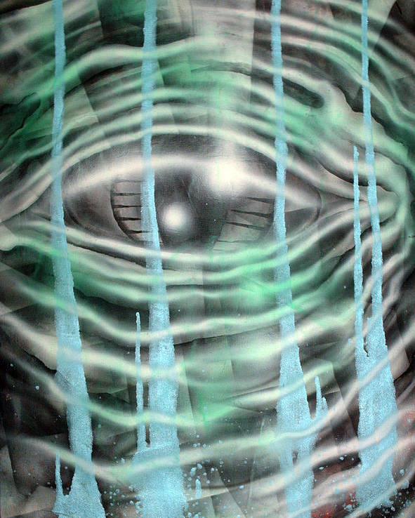 Surreal Poster featuring the painting Eye Knew by Leigh Odom