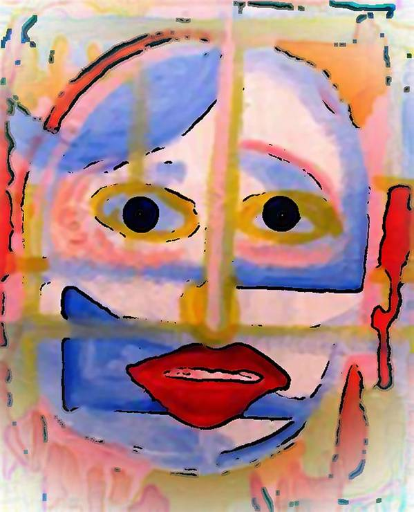 Art Poster featuring the painting Face 1 by Gregory McLaughlin