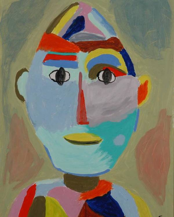 Caricaure Poster featuring the painting Face by Harris Gulko