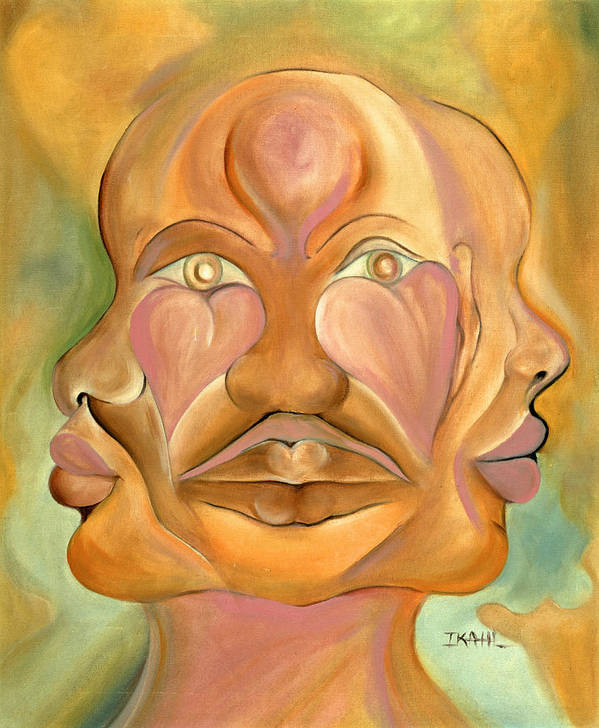 Human Poster featuring the painting Faces Of Copulation by Ikahl Beckford