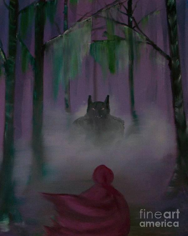 Poster featuring the painting Fairy Tale by Dell Justice