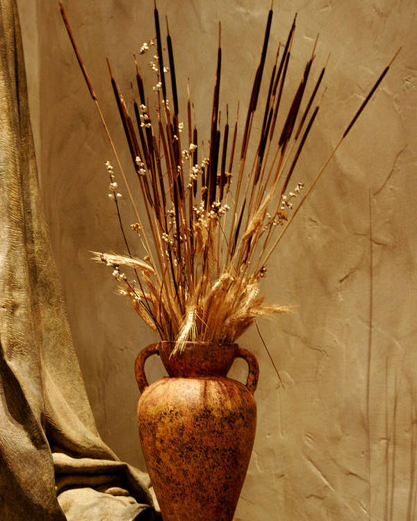 Fall Poster featuring the photograph Fall In A Vase Still-life by Christine Till