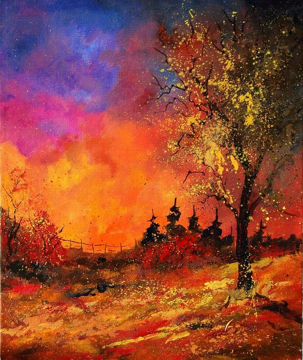 River Poster featuring the painting Fall by Pol Ledent