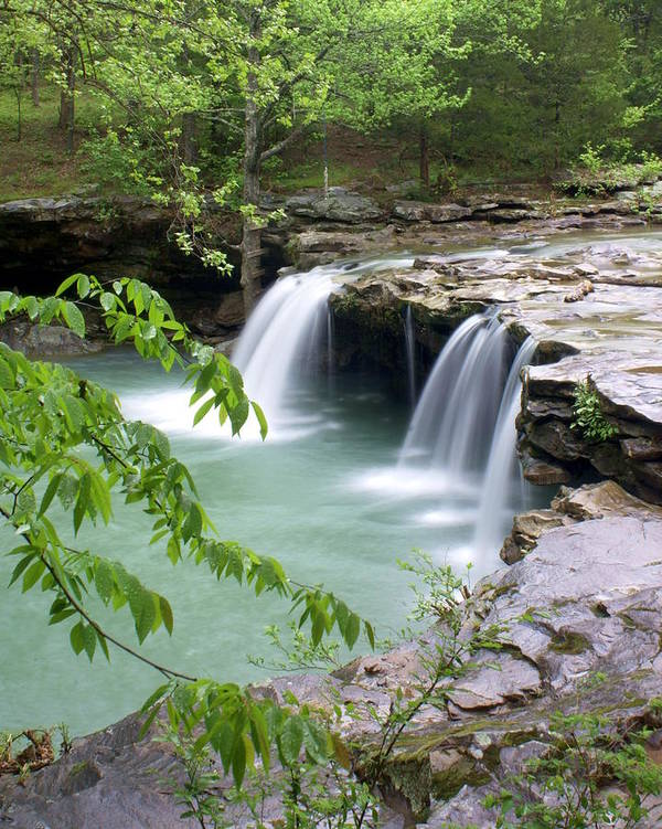 Falling Water Falls Poster featuring the photograph Falling Water Falls 4 by Marty Koch