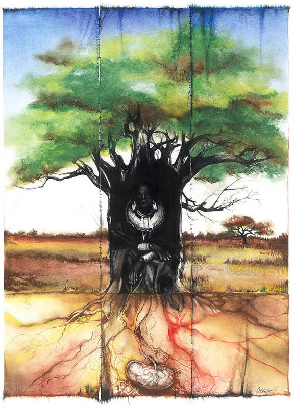 Family Poster featuring the mixed media Family Tree by Anthony Burks Sr