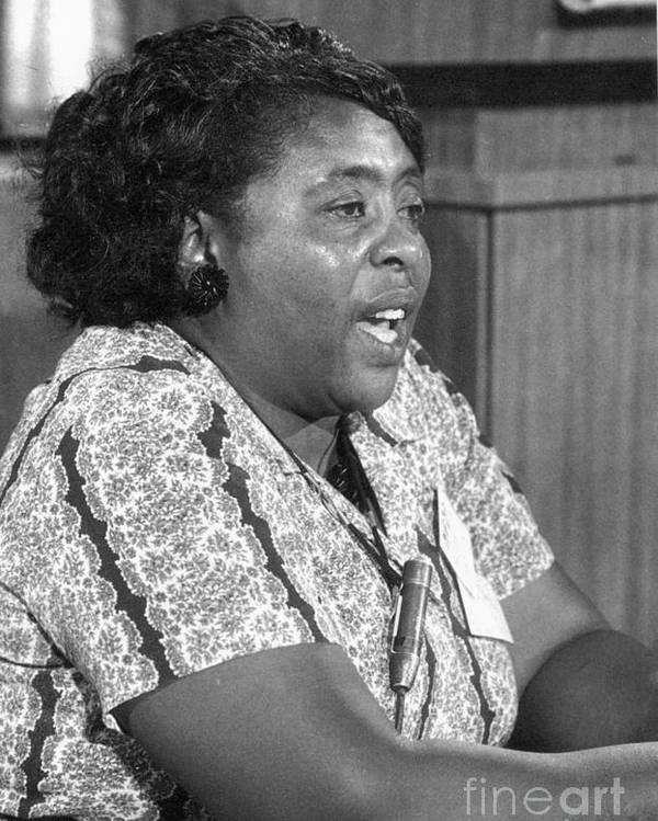 1964 Poster featuring the photograph Fannie Lou Hamer by Granger