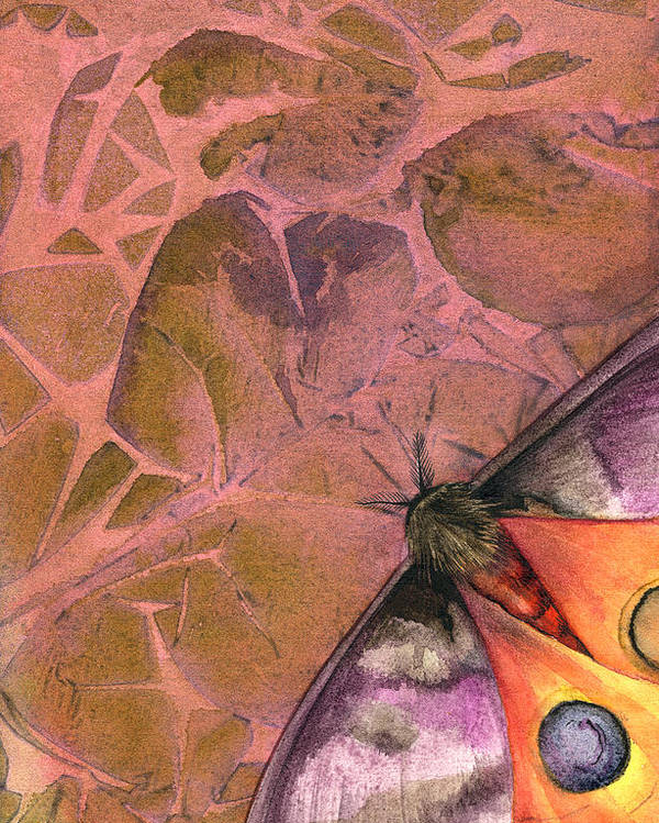 Moths Poster featuring the painting Fantasmoth 2 by Mindy Lighthipe
