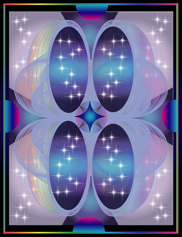 Abstract Poster featuring the digital art Far Galaxy by George Pasini