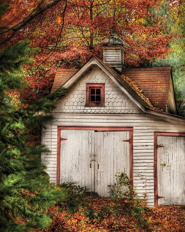 Savad Poster featuring the photograph Farm - Barn - Our Old Shed by Mike Savad