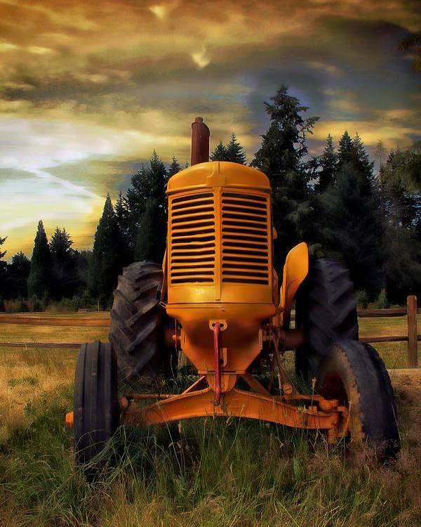 Tractor Poster featuring the photograph Farm On by Aaron Berg
