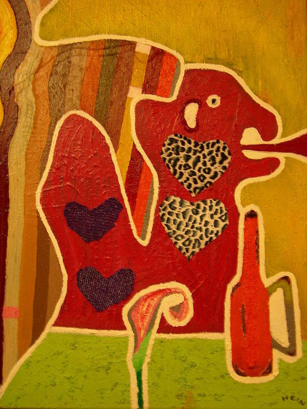 Abstract Poster featuring the painting Fashion Monster by Heinrich Haasbroek