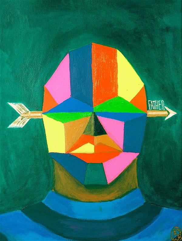 Maliksart Poster featuring the painting Father by Malik Seneferu
