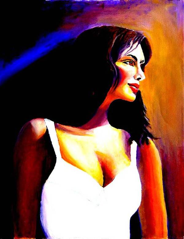 Portrait Of A Beautiful Woman Poster featuring the print Fatima by George Markiewicz