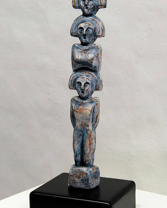 Matrons Poster featuring the sculpture Female Figurine - Goddess Worship - Matronen - Matrone - Matrones - Matron - Nettersheim Eifel by Urft Valley Art