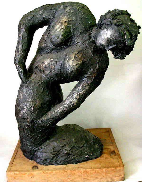 Portrait Poster featuring the sculpture Female Torso by Gideon Cohn