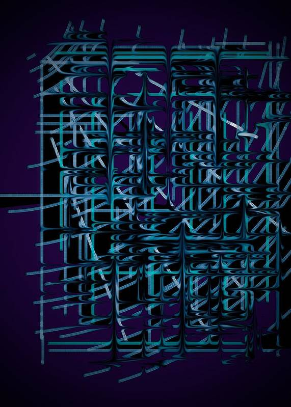 Metal Poster featuring the digital art Fence by Lhester Jimenez