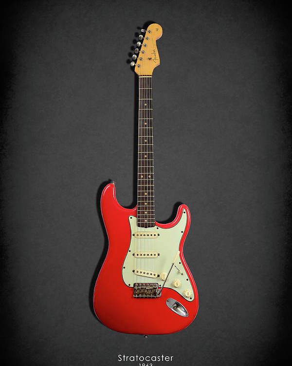 Fender Stratocaster Poster featuring the photograph Fender Stratocaster 63 by Mark Rogan