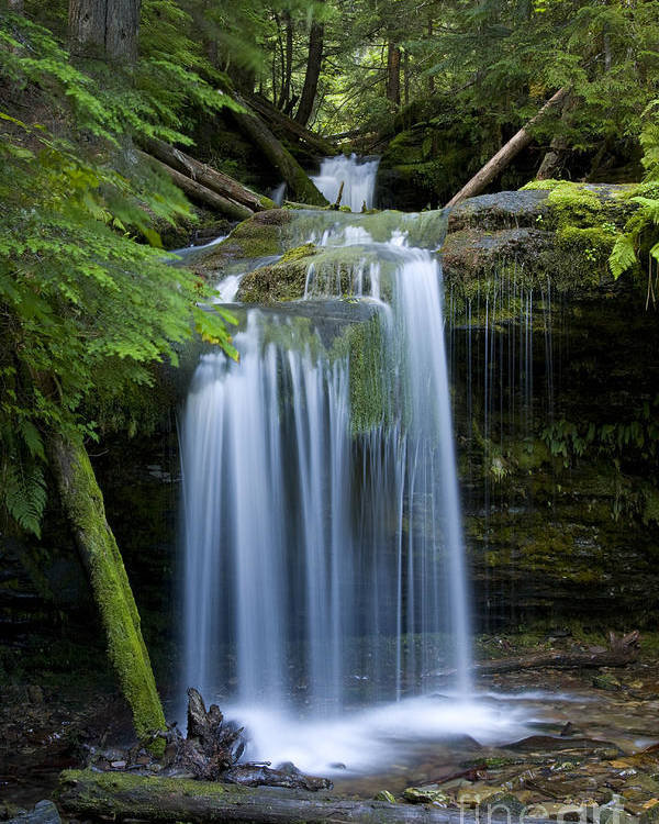 Waterfalls Poster featuring the photograph Fern Falls by Idaho Scenic Images Linda Lantzy