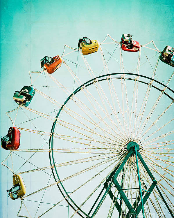 Ferris Wheel Poster featuring the photograph Ferris Wheel 2 by Kim Fearheiley
