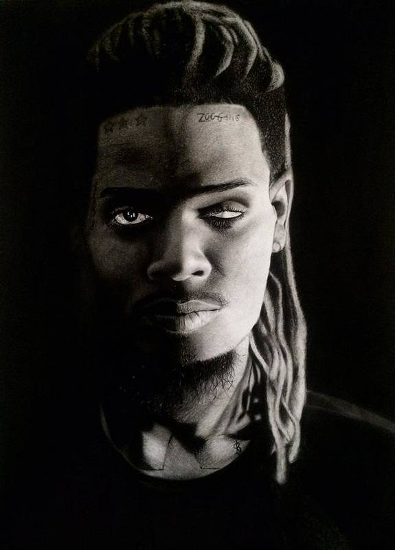 Fettywap Poster featuring the drawing Fetty Wap Drawing by Angelee Borrero