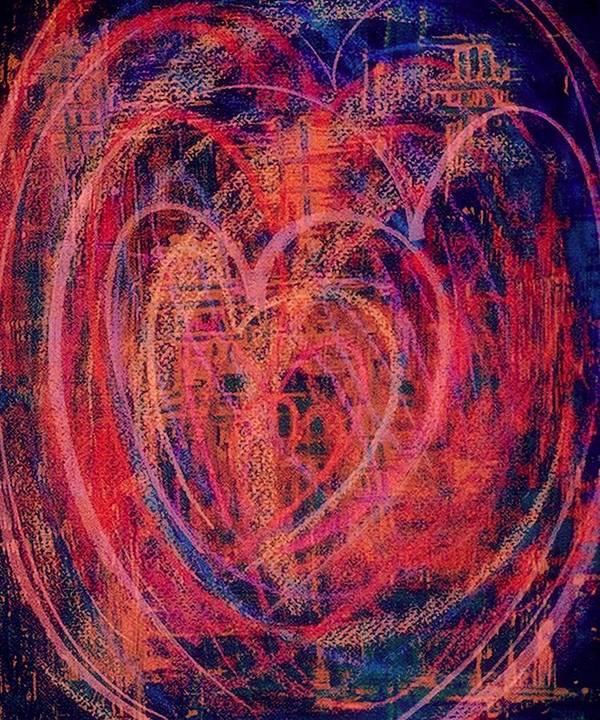 Heart Poster featuring the digital art Fiesta De Amor by Mildred Ann Utroska    Mauk