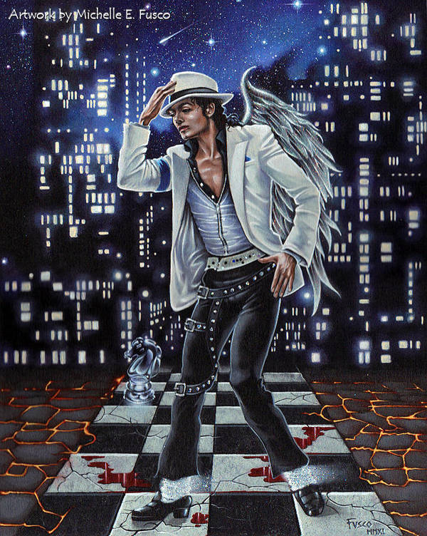 Michael Jackson Poster featuring the painting Finding Forever by Michele Fusco