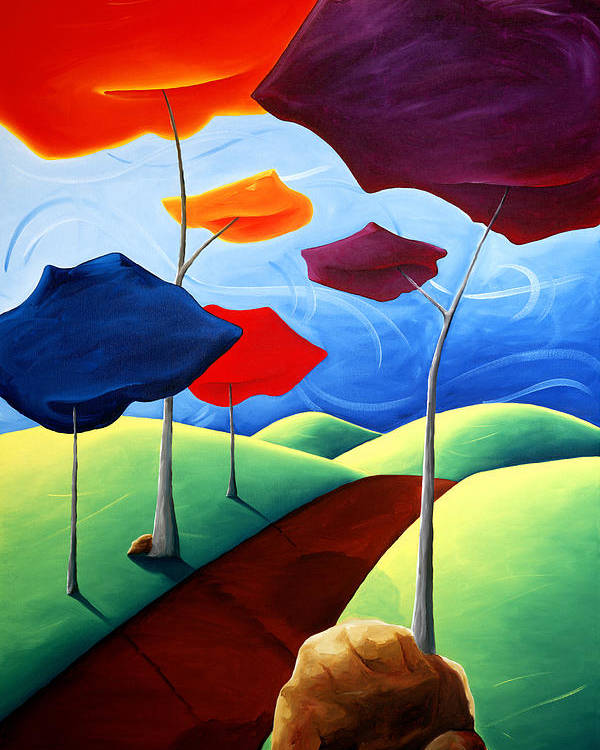 Landscape Poster featuring the painting Finding Your Way by Richard Hoedl