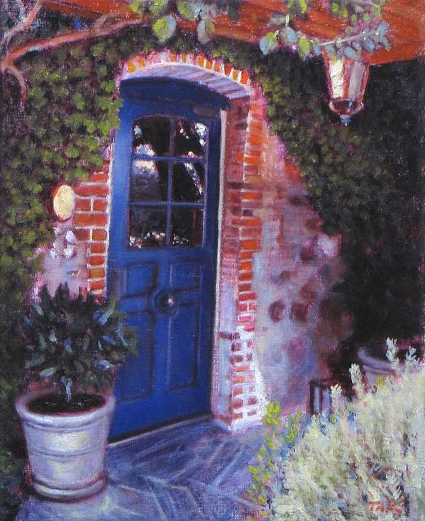 Landscape Poster featuring the painting Fine French Restraunt French Laundry With Rosemary by Takayuki Harada