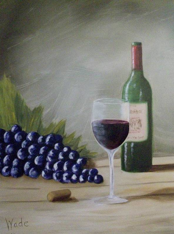 Wine Poster featuring the painting Fine Wine by Craig Wade