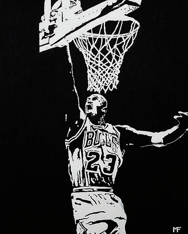 Basketball Poster featuring the painting Finisher by Matthew Formeller