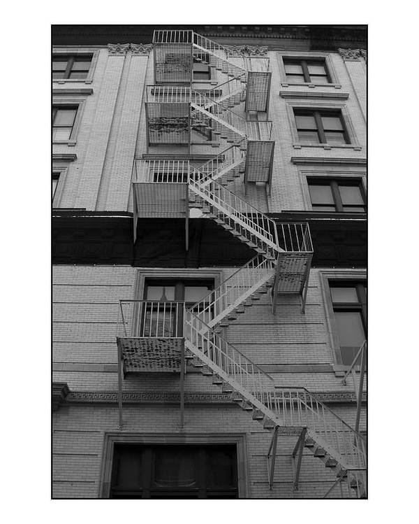 Fire Escape Poster featuring the photograph Fire Escape by Filipe N Marques