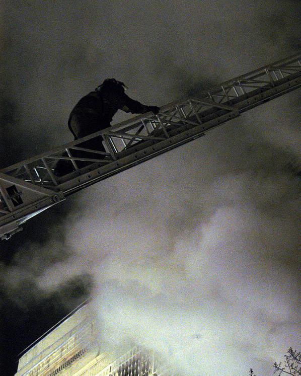 Fireman Poster featuring the photograph Fireman Washington Dc by Thomas Michael Corcoran