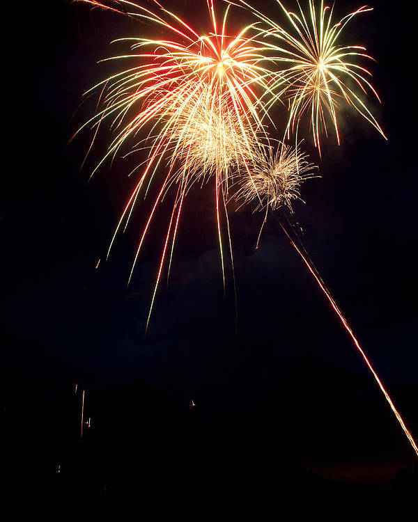 Fireworks Poster featuring the photograph Fireworks 49 by James BO Insogna