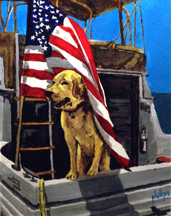Dog Poster featuring the painting First Mate by Jim Phillips